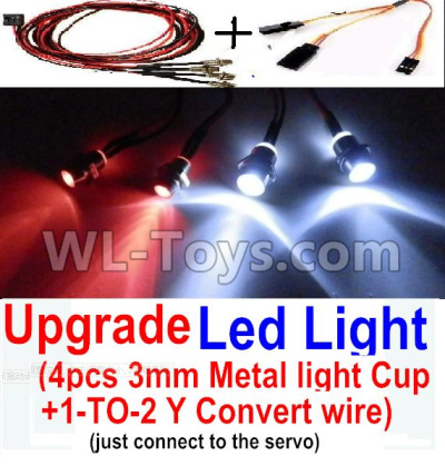 Wltoys 20402 RC Car Upgrade LED Light set(Include the Upgrade LED light and 1-TO-2 Conversion wire)-0656,Wltoys 20402 Parts
