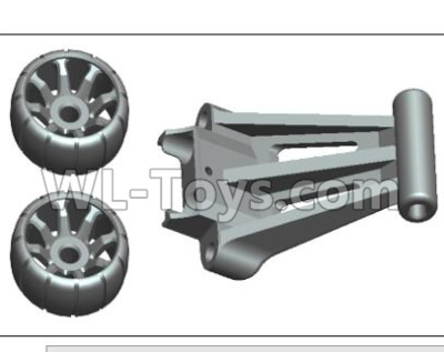 Wltoys 20402 RC Car Parts-Head up wheel assembly Parts-1525,Wltoys 20402 Parts