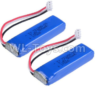 Wltoys 20402 RC Car Parts-Battery 7.4V 500mah Battery Parts(2pcs)-0658,Wltoys 20402 Parts
