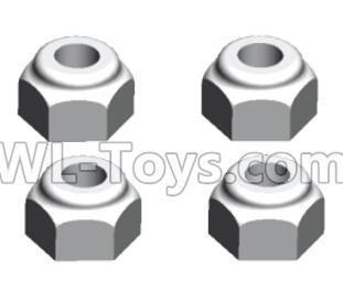 Wltoys 20402 RC Car Parts-M3 Anti loose nut(4PCS)-A929-95,Wltoys 20402 Parts