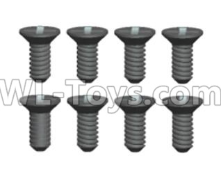 Wltoys 20402 RC Car Parts-0421 Countersunk head Cross recessed tapping Screws Parts(8pcs)-ST2X6KB,Wltoys 20402 Parts