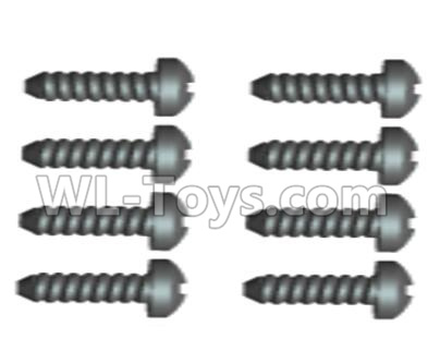 Wltoys 20402 RC Car Parts-0427 Cross recessed pan head Self-tapping Screws Parts(8PCS)-ST2X12PB,Wltoys 20402 Parts