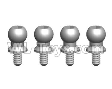 Wltoys 20402 RC Car Parts-0438 Ball Head Screw Assembly(4PCS)-4.5X9.2,Wltoys 20402 Parts