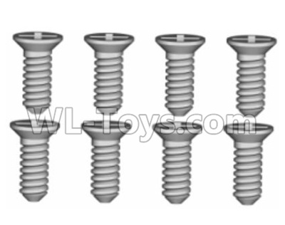 Wltoys 20402 RC Car Parts-0633 Cross recessed Flat head Self-tapping Screws Parts(8PCS)-ST1.7x4.5,Wltoys 20402 Parts