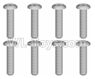 Wltoys 20402 RC Car Parts-0634 Cross recessed pan head Screws Parts(8PCS)-ST1.7x9PB,Wltoys 20402 Parts