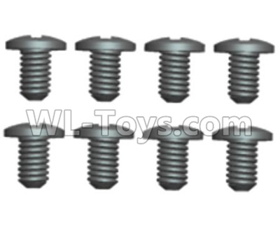Wltoys 20402 RC Car Parts-0636 Round Head Machine Screws Parts(8pcs)-2X6PM,Wltoys 20402 Parts
