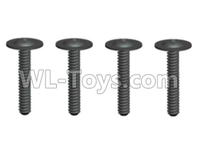 Wltoys 20402 RC Car Parts-0642 Round Head Screws Parts with cross media(4pcs)-ST2x12PWB6,Wltoys 20402 Parts