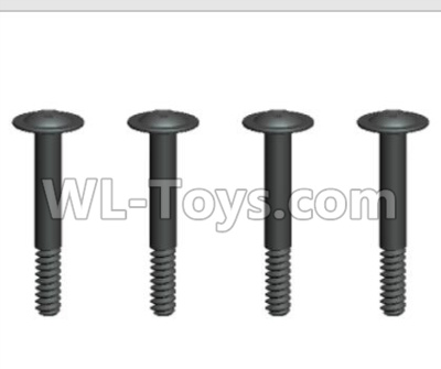 Wltoys 20402 RC Car Parts-0643 Round Head Machine Screws Parts with cross media and Lower half tooth(4pcs)-2x14PWB5,Wltoys 20402 Parts