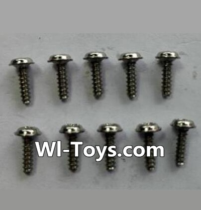 Wltoys 24438 RC Car Parts-Round-head Self-tapping screws Parts with a mediator(10pcs)-(ΦM1.7×6),Wltoys 24438 Parts