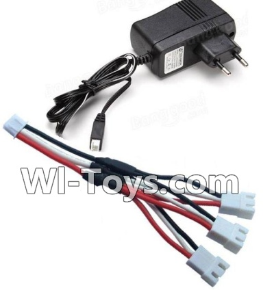 Wltoys A232 A242 A252 Parts-Charger & Upgrade 1-to-3 coversion Charging cable(1pcs)