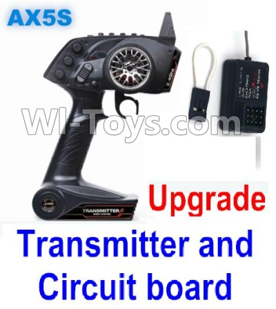 Wltoys A202 A212 A222 Upgrade Parts-Upgrade AX5S Transmitter(With Speed Limit function,0-200M control) & Upgrade Circuit board