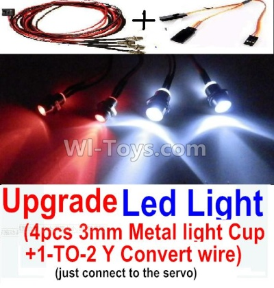 Wltoys A202 A212 A222 Upgrade Parts-Upgrade LED Light set(Include the Upgrade LED light and 1-TO-2 Conversion wire)