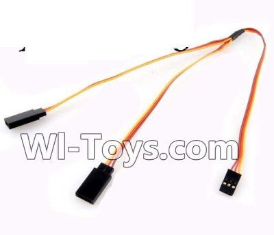 Wltoys A232 A242 A252 Parts-Upgrade 1-TO-2 Conversion wire for the Led Light