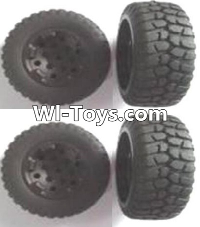 Wltoys A313 RC Car Parts-Front and Rear wheel unit Parts-(Total 4pcs),Wltoys A313 Parts