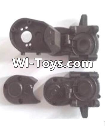Wltoys A313 RC Car Parts-Gearbox unit(Upper and bottom Gear box cover & Dust cover),Wltoys A313 Parts