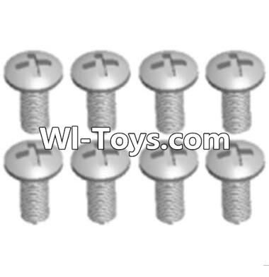 Wltoys A313 RC Car Parts-Round head machine screws Parts(M2.5X10 PM D4)-8pcs,Wltoys A313 Parts