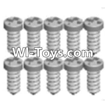 Wltoys A313 RC Car Parts-Cross recessed tapping round head screws Parts(M1.7X6 PB)-10PCS,Wltoys A313 Parts