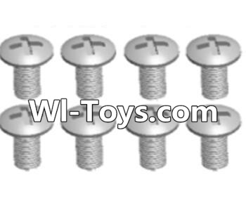 Wltoys A313 RC Car Parts-Cross recessed round head screws Parts(M3X14 PM)-8pcs,Wltoys A313 Parts