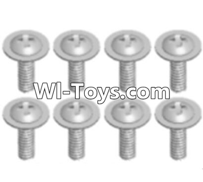 Wltoys A313 RC Car Screws Parts-Round Head Screws with dielectric(M2.5X6X6)-8pcs,Wltoys A313 Parts
