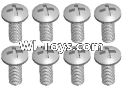 Wltoys A313 RC Car Parts-L959-57 Round head self tapping screw(M2.6X8)-10PCS,Wltoys A313 Parts