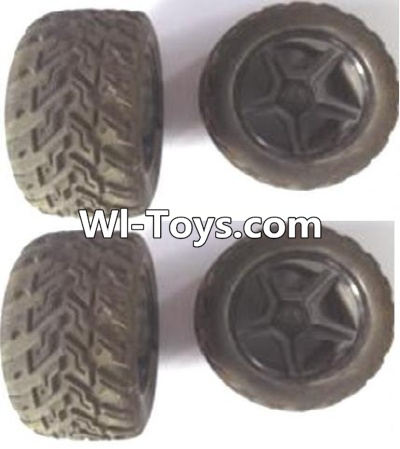 Wltoys A323 RC Car Parts-Front and Rear wheel unit Parts-(Total 4pcs),Wltoys A323 Parts