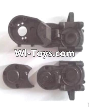 Wltoys A323 RC Car Parts-Gearbox unit(Upper and bottom Gear box cover & Dust cover),Wltoys A323 Parts
