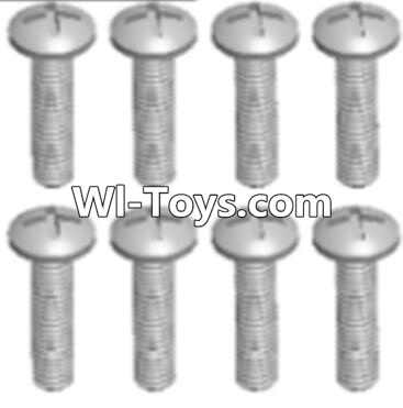 Wltoys A323 RC Car Parts-Round head tapping screw(M2.6X16 PB)-8pcs,Wltoys A323 Parts