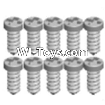 Wltoys A323 RC Car Parts-Cross recessed tapping round head screws Parts(M1.7X6 PB)-10PCS,Wltoys A323 Parts