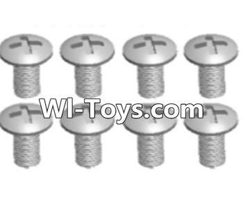 Wltoys A323 RC Car Parts-Cross recessed round head screws Parts(M3X14 PM)-8pcs,Wltoys A323 Parts