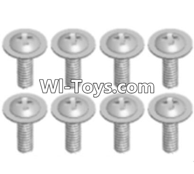 Wltoys A323 RC Car Screws Parts-Round Head Screws with dielectric(M2.5X6X6)-8pcs,Wltoys A323 Parts