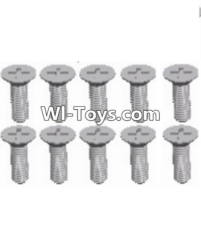 Wltoys A323 RC Car Parts-L959-54 Countersunk head self tapping screw(M2.6X8)-10PCS,Wltoys A323 Parts