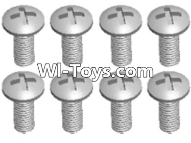 Wltoys A323 RC Car Parts-L959-57 Round head self tapping screw(M2.6X8)-10PCS,Wltoys A323 Parts