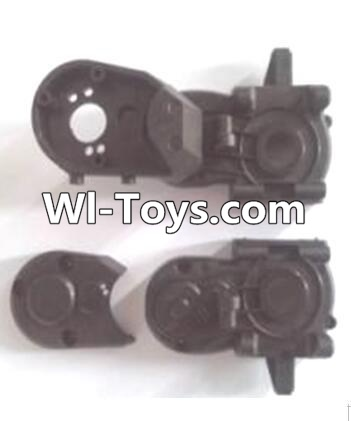 Wltoys A333 RC Car Parts-Gearbox unit(Upper and bottom Gear box cover & Dust cover),Wltoys A333 Parts