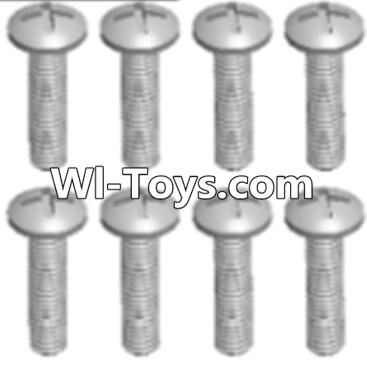 Wltoys A333 RC Car Parts-Round head tapping screw(M2.6X16 PB)-8pcs,Wltoys A333 Parts