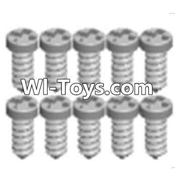 Wltoys A333 RC Car Parts-Cross recessed tapping round head screws Parts(M1.7X6 PB)-10PCS,Wltoys A333 Parts