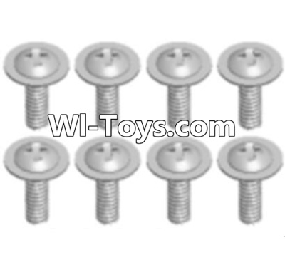 Wltoys A333 RC Car Screws Parts-Round Head Screws with dielectric(M2.5X6X6)-8pcs,Wltoys A333 Parts