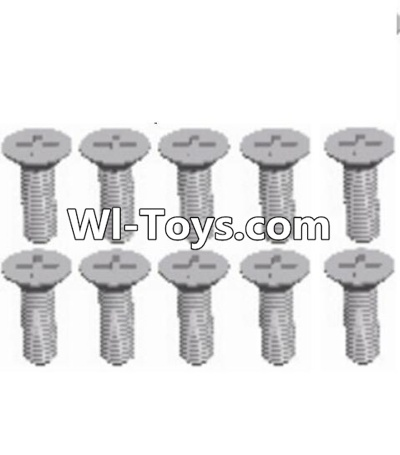 Wltoys A333 RC Car Parts-L959-54 Countersunk head self tapping screw(M2.6X8)-10PCS,Wltoys A333 Parts