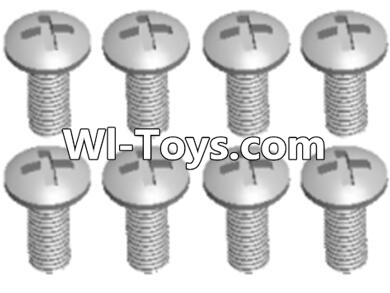 Wltoys A333 RC Car Parts-L959-57 Round head self tapping screw(M2.6X8)-10PCS,Wltoys A333 Parts