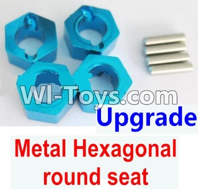 Wltoys A949 Upgrade Parts-Upgrade Metal Hexagonal round seatParts-4pcs-Blue