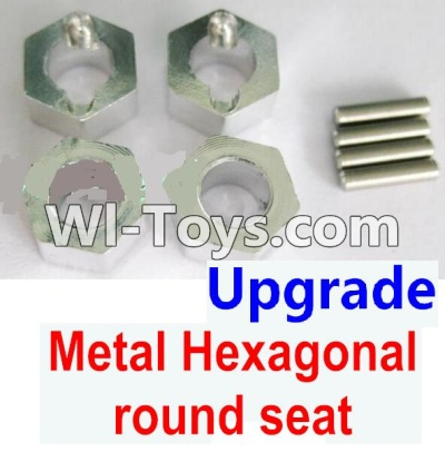 Wltoys A949 Upgrade Parts-Upgrade Metal Hexagonal round seatParts-4pcs-Silver