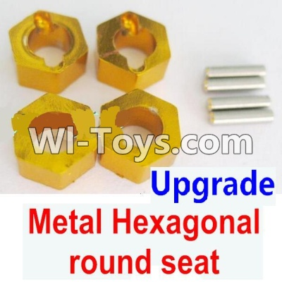 Wltoys A949 Upgrade Parts-Upgrade Metal Hexagonal round seatParts-4pcs-Yellow