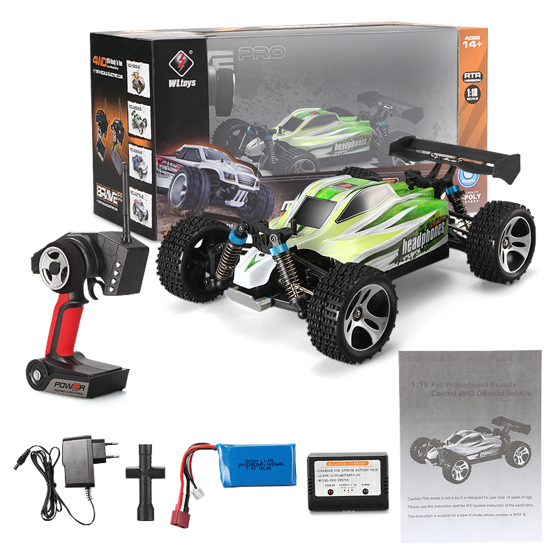 Wltoys A959B A959-B RC Car Truck Wltoys A959-B High speed 1/18 1:18 Full-scale RC Racing Car