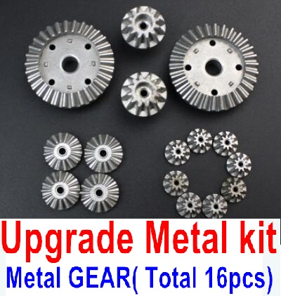 Wltoys A959B A959-B RC Car Upgrade Metal Kit-(Metal gear,total 16pcs),Can be used for A959 A959B A959-B