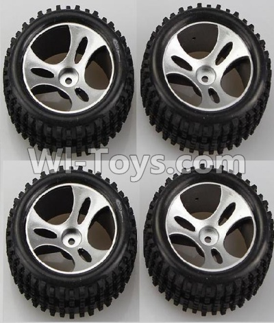 Wltoys A959B A959-B Car Parts-Wheel-Official Wheel Parts(2pcs Left and 2pcs Right Wheel),Wltoys A959B A959-B Parts