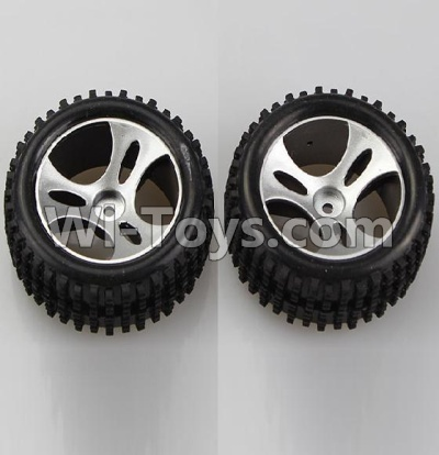 Wltoys A959B A959-B Car Parts-Wheel-Official Left Wheel(2pcs),Wltoys A959B A959-B Parts