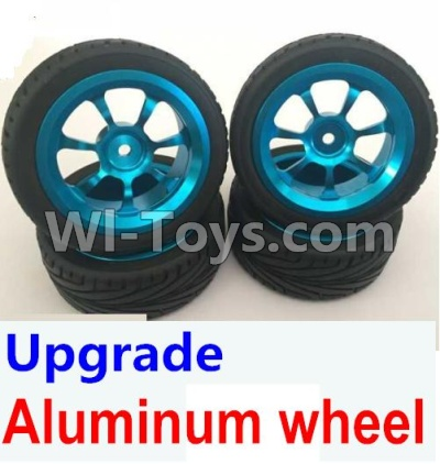Wltoys A959B A959-B Car Upgrade Parts-Upgrade Aluminum wheel(4pcs-Include the Tire leather,Also include the 7mm-to-12mm converter),Wltoys A959B A959-B Parts