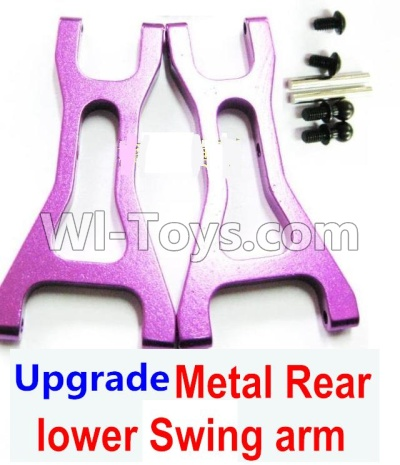Wltoys A959B A959-B Car Upgrade Parts-Upgrade Metal Rear lower Swing arm,Lower Suspension Arm(2pcs)-Purple,Wltoys A959B A959-B Parts