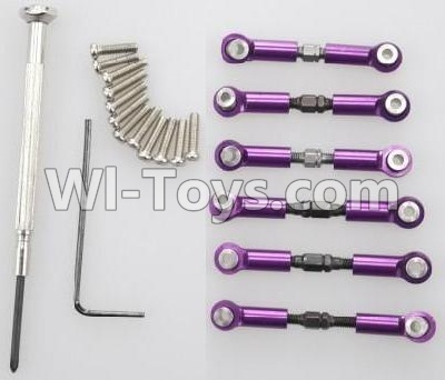 Wltoys A959B A959-B Car Upgrade Parts-Upgrade Metal Connect buckle,Trolley(6pcs)-Purple,Wltoys A959B A959-B Parts
