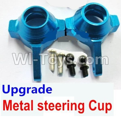 Wltoys A959B A959-B Car Upgrade Parts-Upgrade Metal steering Cup-Blue,Wltoys A959B A959-B Parts