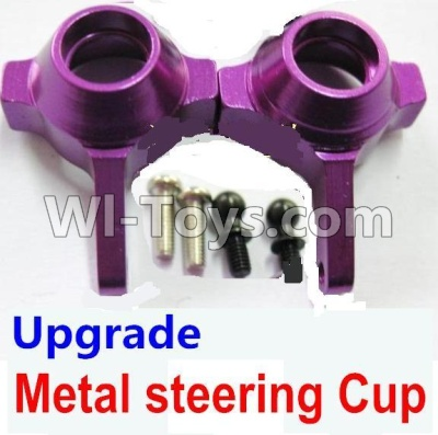 Wltoys A959B A959-B Car Upgrade Parts-Upgrade Metal steering Cup-Purple,Wltoys A959B A959-B Parts